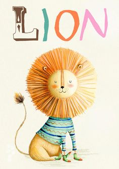 Lion print by Holly Clifton-Brown