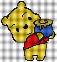 Winnie The Pooh Pixel Art Brik Pixel Art Designs Anime