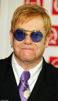 Elton John shops for glasses in LA even though he owns pairs Elton John Partner, Elton John Sunglasses, Elton Jon, Captain Fantastic, Nirvana Kurt Cobain, Portrait Images, Portraits, Barry Gibb, Its A Wonderful Life