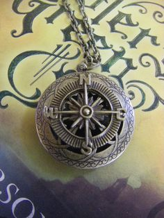 Compass Locket  antiqued brass gift for her by CHAiNGEthesubject, $24.00