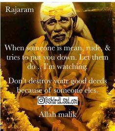 Spiritual Quotes, Positive Quotes, Sai Baba Miracles, Sai Baba Quotes, Radha Krishna Love Quotes, Baba Image, Baby Krishna, Om Sai Ram, India Art