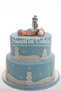 Baby it's cold outside, baby shower cake