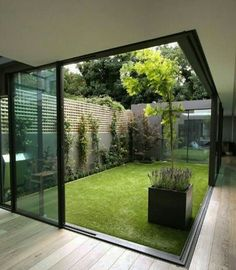 Old Japanese architecture inspired green space in the middle of the House layout to allow natural light everywhere