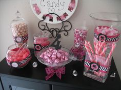 Barbie Birthday Pink Candy Buffet