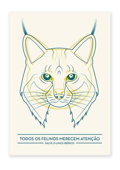 SAVE THE IBERIAN LYNX by Catarina Dinis, via Behance
