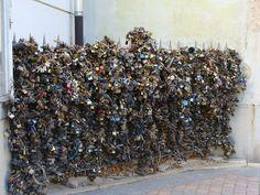 Wall of love-locks #Pecs #Hungary #love