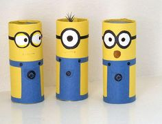 Watch something ordinary turn into a bunch of adorable little minions. Cardboard Tube Minion Crafts transform toilet tubes into the cutest toilet paper roll crafts ever witnessed. Despicable Me minions are kid favorites.