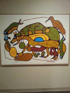 Norval Morrisseau at the Glenbow Museum