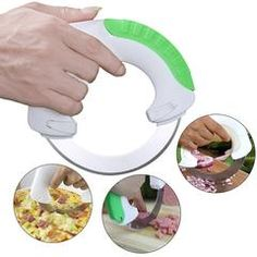 Circular Cortador Cuchillo/Circular Annular Cutter Rolling Vegetable Knife Meat Slicer Pizza Cutter Kitchen Knife Home Kits Smart Kitchen, Kitchen Tools And Gadgets, Choppers Personalizadas, Pizza Wheel, Meat Slicers, Vegetable Chopper, Vegetable Slicer, Sweet Home, Great Inventions
