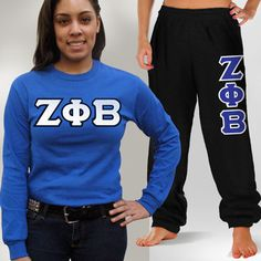 Zeta Phi Beta Longsleeve and Sweatpants Package #Greek #Sorority #Clothing #Zeta #ZetaPhiBeta