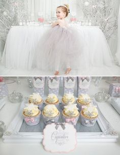 Whimsical & Wintery Snow Princess Dessert Table // Hostess with the Mostess®