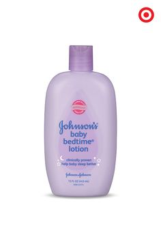 Calm and soothe Baby before bedtime with Johnson's Baby Bedtime Lotion, and you'll probably have a more relaxing night too. This hypoallergenic lotion is enriched with aromatic lavender and chamomile, and leaves skin feeling soft and smooth.