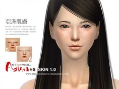 The Sims Resource: Asian skintones 1.0 by S-Club • Sims 4 Downloads