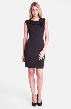 Tahari Bow Neck Jersey Sheath Dress available at #Nordstrom
