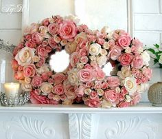 realistic looking faux rose wreaths