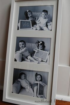 Capture their little smiles and special message in a multi opening mat and custom frame. Stellar gift idea!
