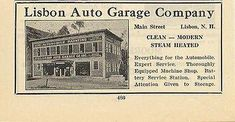 Lisbon Auto Repair Garage Lisbon NH 1922 Ad Automobile Battery Service