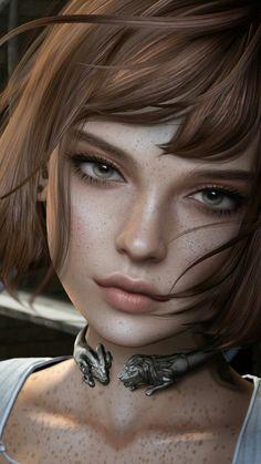 New ideas digital art girl face anime Digital Art Girl, Digital Portrait, Portrait Art, Digital Art Fantasy, Virtual Girl, Photographie Portrait Inspiration, Character Portraits, 3d Character, Illustration Girl