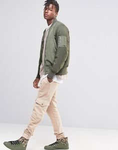Image 4 of ASOS Skinny Joggers With Cargo Pockets In Light Beige