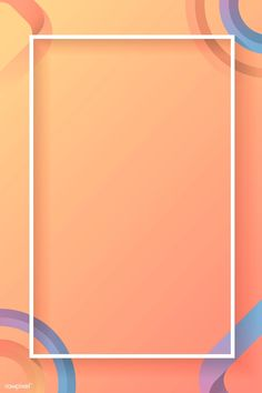 Blank rectangle colorful abstract frame vector | premium image by rawpixel.com Poster Background Design, Background Banner, Background Designs, Beach Wallpaper, Pastel Wallpaper, Instagram Background, Birthday Frames, Live Wallpapers, Free Illustrations