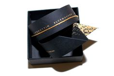 The 12 Coolest Fashion Week Invites  #refinery29  http://www.refinery29.com/11161#slide-12  Leifsdottir: It's a ribbon, no, it's a slap-bracelet. Well, it's kinda both.