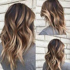 Layered, Wavy Hairuts for Medium Hair - Balayage Medium Hairstyles