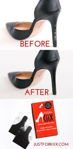 Matte Black Just for Kiix can repair damaged shoes in just minutes! www.JustforKiix.com