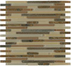 Maniscalco slate interlocking stix and random; Matte Material, Bathroom Accents, Kitchen Backsplash, Slate, Natural Stones, Birch, Tile Flooring, Floors, Farmhouse