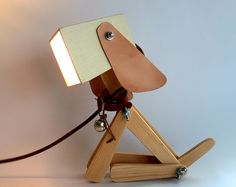 light beagle dog,Table lamps, lamps, lighting, desk lamps, wood desk lamp, lights,
