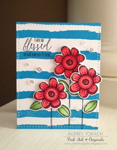 I am Blessed Handmade card by PinkInkOriginals on Etsy