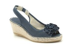 Womens Smart Sandals - Pirie Plum in Navy Fabric from Clarks shoes