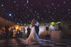 Light the tent to look like stars above the dance floor.