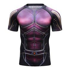 5b436df9e7ac3 Compression shirt Marvel Superhero Fitness Gym T-Shirts