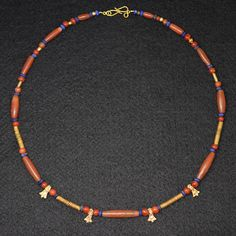 A fine Sumerian Gold, Carnelian & Lapis lazuli Bead Necklace, ca 2600 | Sands of Time Ancient Art