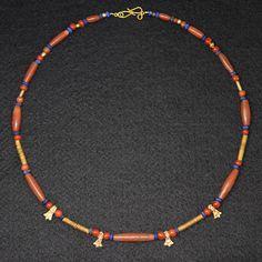 A fine Sumerian Gold, Carnelian & Lapis lazuli Bead Necklace, ca 2600 | Sands of Time Ancient Art