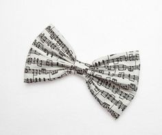 Musical+Notes+Hair+Bow+Clip+Musical+Notes+Bow+Music+by+JuicyBows,+$4.99