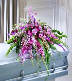 Casket Sprays For Women | Thoughtful Gesture Casket Spray | Flower Delivery - Send Flowers and ...
