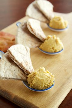Pumpkin hummus - seasonal protein and veggie snack all in one dish!