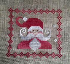 Santa Cross Stitch, Cross Stitch Cards, Beaded Cross Stitch, Cross Stitching, Cross Stitch Embroidery, Cross Stitch Christmas Ornaments, Christmas Embroidery, Christmas Cross, Christmas Tree
