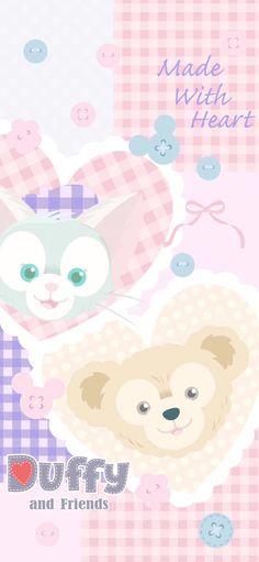 Duffy The Disney Bear, Miraculous Ladybug Funny, Pooh Bear, Photo Wallpaper, Disney Wallpaper, Magic Kingdom, Cute Wallpapers, Kawaii, Template
