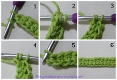 Foundation stitches can be used instead of making a number of chains and then working stitches into the chains. This will be when you are working in rows. Crochet Stitches Free, Crochet Blanket Patterns, Foundation Half Double Crochet, Single Crochet Stitch, Crochet Instructions, Yarn Over, Learn To Crochet, Beautiful Crochet, Along The Way