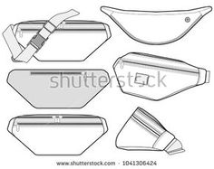 Find Waist Bag Vector Illustration Flat Sketches stock images in HD and millions of other royalty-free stock photos, illustrations and vectors in the Shutterstock collection. Thousands of new, high-quality pictures added every day. Flat Drawings, Flat Sketches, Technical Drawings, Clothing Sketches, Fashion Sketches, Bag Illustration, Illustrations, Drawing Bag, Sketches Tutorial