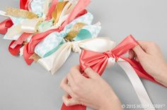 We've got loads of tips and techniques to help you incorporate ribbon décor at your next bash.