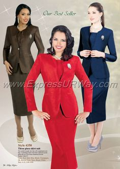 Tally Taylor 4350 Womens Shantung Suit