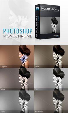 Monochrome Photoshop actions set. Actions. $5.00