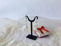 Long wedding earrings / bridal earrings / Swarovski Crystal long drop earrings