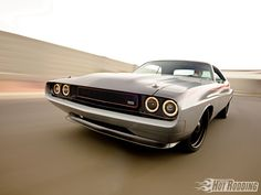 Check out this Pro Rodding 1970 Dodge Challenger built by The Roadster Shop is a high end Muscle Car - Popular Hot Rodding Magazine