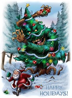 Something wicKED this way comes....: Tuesday's Terror Trees (Creepmas Day 4)