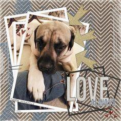 """Love My Dog"" by Chrissy, as seen in the Club CK Idea Galleries. #scrapbook #scrapbooking #creatingkeepsakes"