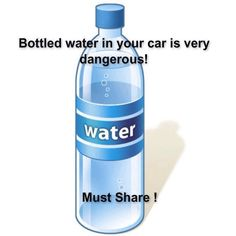 """ Bottled Water In Your Car Is Very DANGEROUS!  Must Share!!! #Health #Fitness #Trusper #Tip"